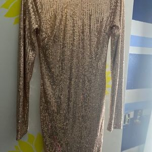champagne mini dress